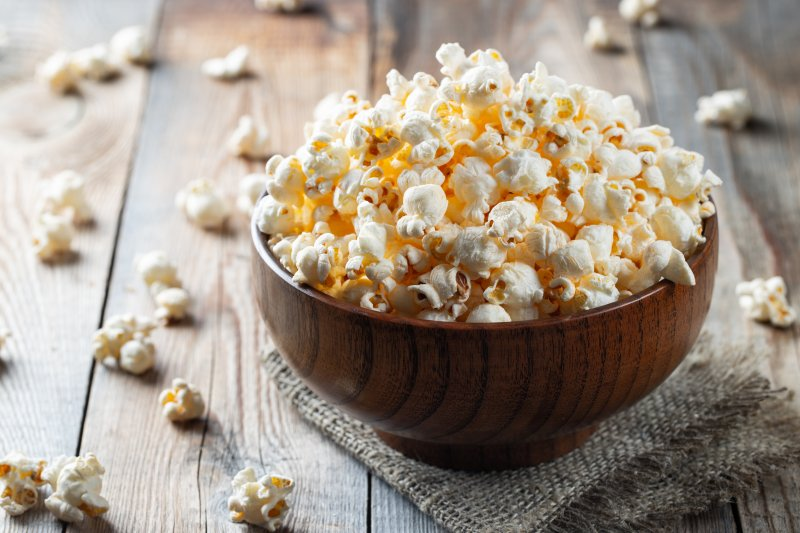 Bowl filled with popcorn