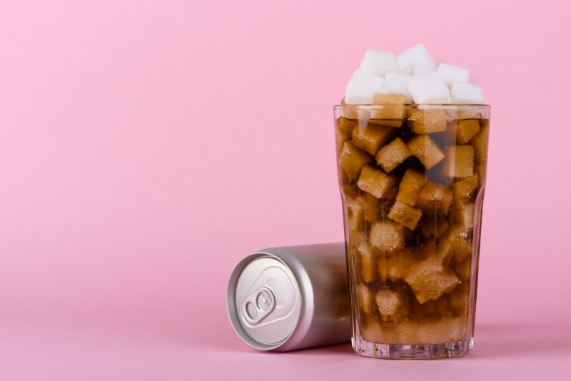 drink filled with sugar cubes